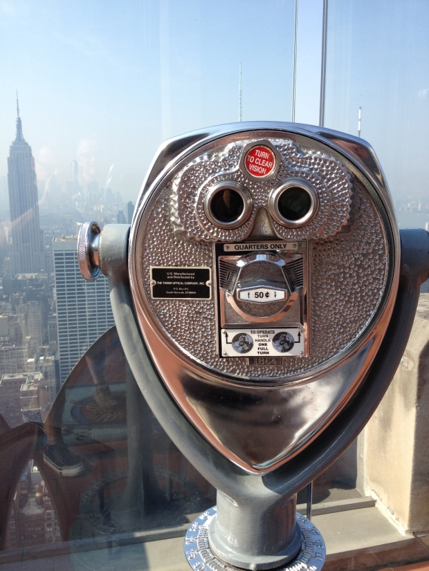 On top of the Rockefeller Building